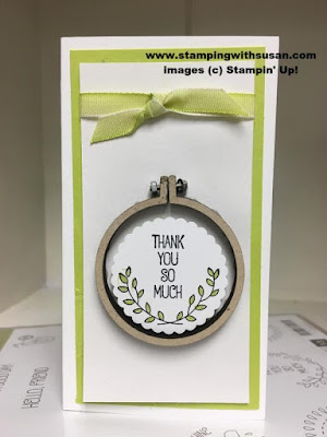 Stampin' Up A Good Day Mini Embroidery Hoops Scallop Circle Punch