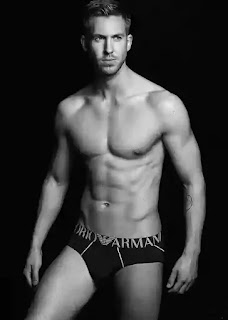 Calvin Harris Armani underwear ad campaign photos