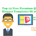 Top 15 Free Premium Quality Blogger Templates Of 2019 Mobile Friendly Blogger Template