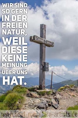 """""""Wir sind so gern in der freien Natur, weil diese keine Meinung über uns hat."""", Friedrich Nietzsche"""
