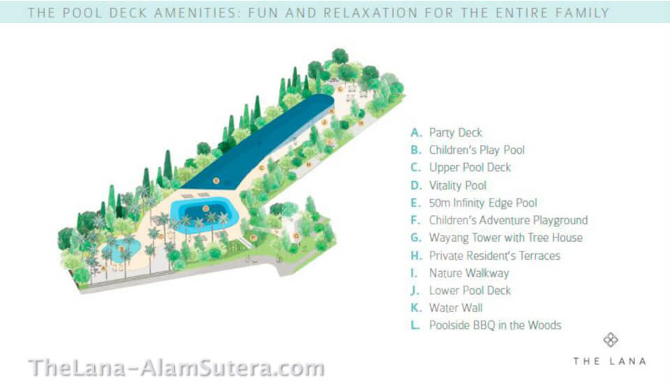 The Pool Deck Amenities @ The Lana Alam Sutera