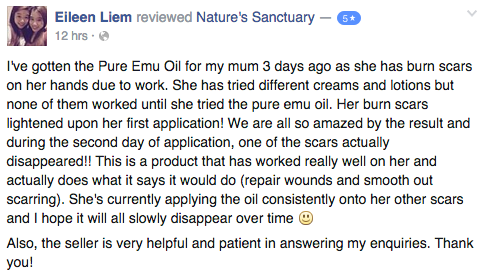 emu oil lighthen scars and repair wounds