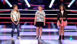 Carla, Leire y Mónica la voz kids batallas equipo bisbal