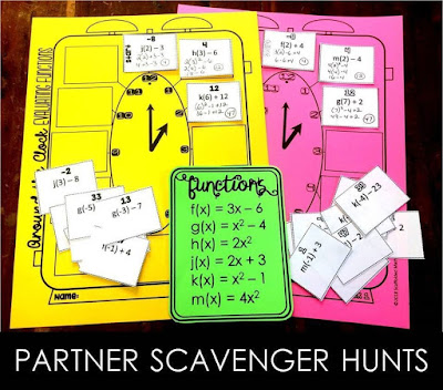 My friend Kara from Learning Made Radical and I have created these new partner scavenger hunts to engage student learning and encourage collaboration.