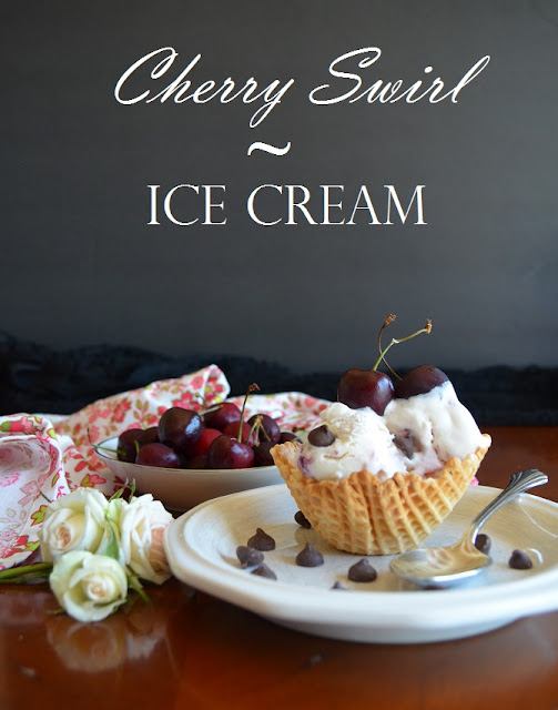 Cherry Swirl Ice Cream Recipe