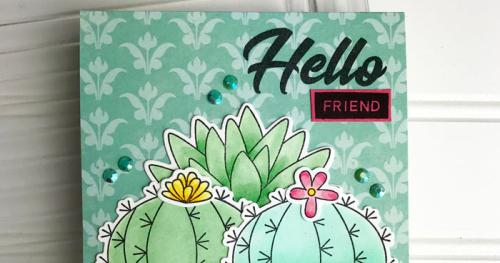 Hampton Art Blog Hello Friend Card By Teri Anderson