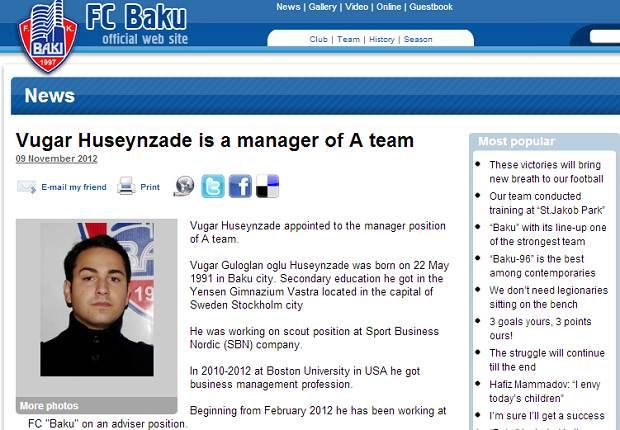 Site do Baku anuncia seu novo técnico