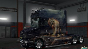Scania T Fire Tiger & Wolf Skin