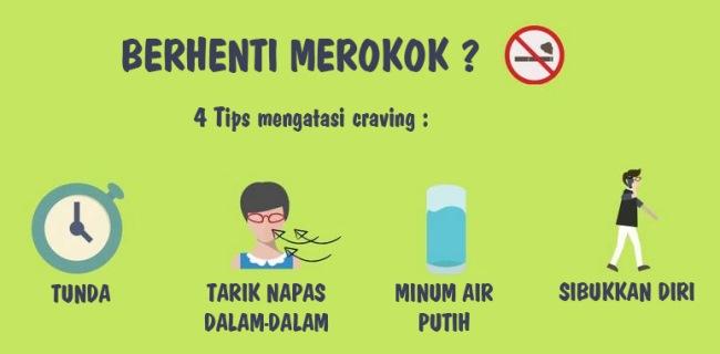 Tips berhenti merokok