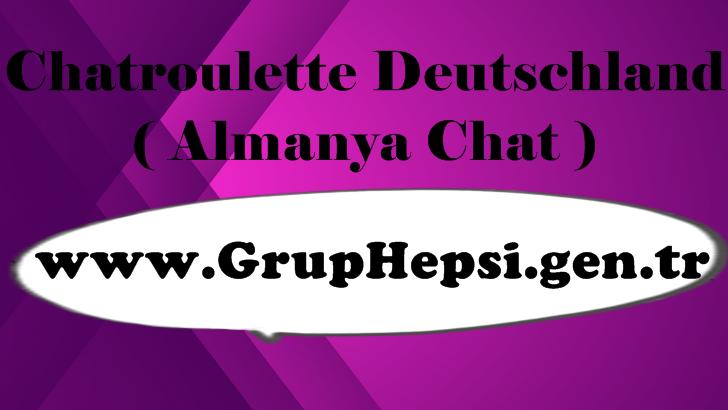 Chatroulette Deutsch, Chatroulette Deutschland gibi aramalar sayesinde almanyalı kişilerle rastgele sohbet etme imkanı bulabiliyor chatroulette gibi mükemmel bir hizmetten faydalanmış oluyoruz.