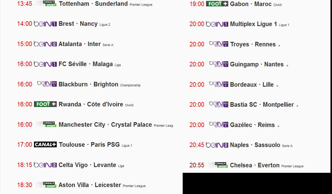 القنوات المجانية الناقلة لمباريات اليوم All Football Matches