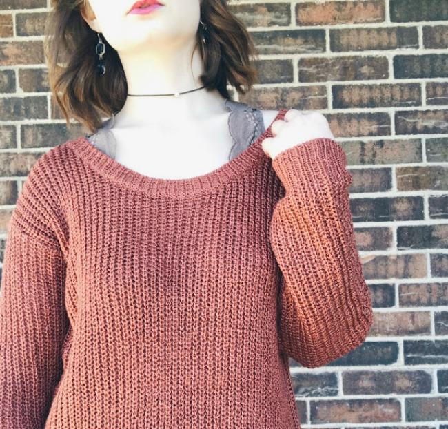 Sweater Dress + Bralette