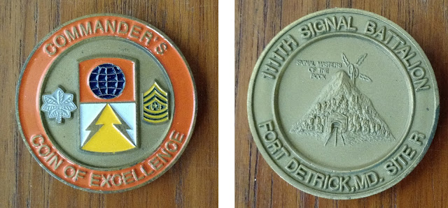 1111th Signal Battalion Site R challenge coin - Fort Detrick