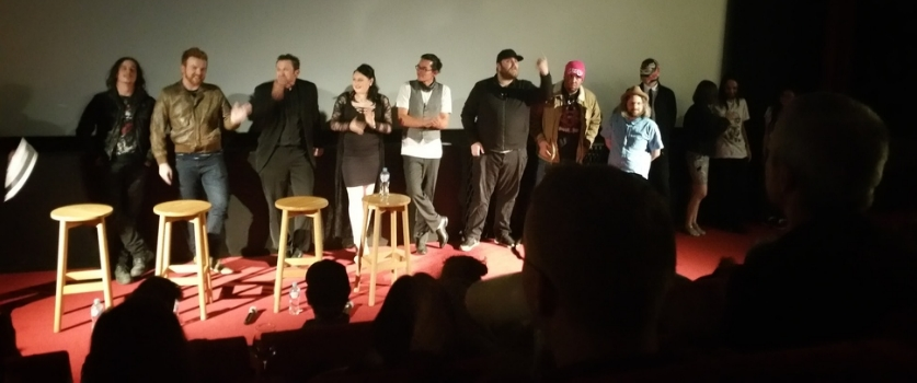 Cast and crew of Mondo Yakuza at Monster Fest 2016
