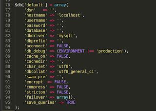 Script Koneksi di Codeigniter