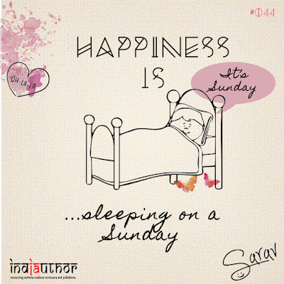 Happiness is sleeping on a Sunday!