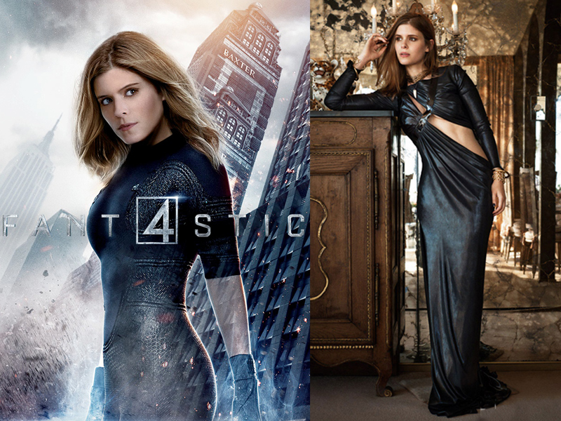 Invisible Women a.k.a Susan Storm di New Fantastic Four oleh Kate Mara  paha mulus seksi superhero