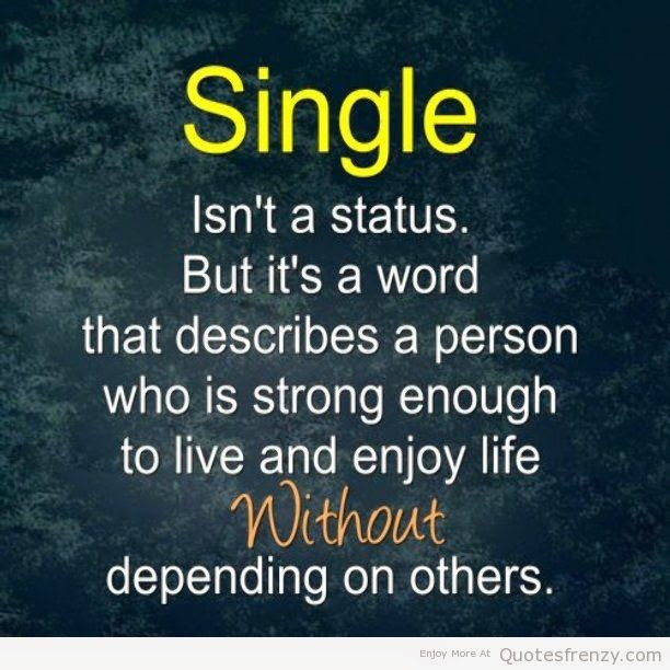 Life Quotes Single Is Not A Status Mylovelyquotes Quotes Famous