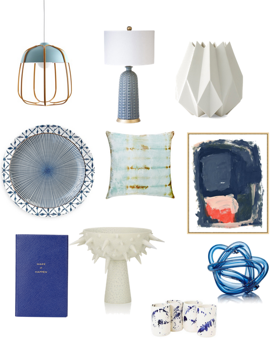 Monday Blues Transitional Blue And White Accessories