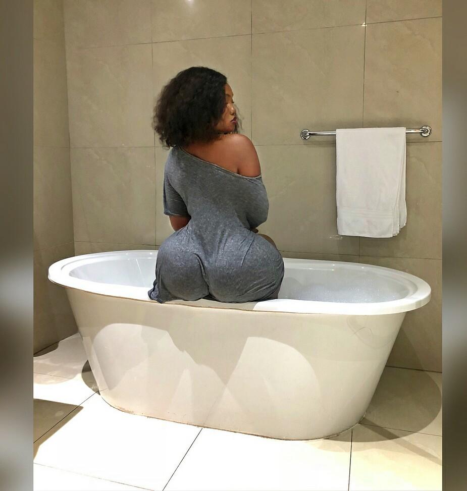 Sanchoka in a Bathroom