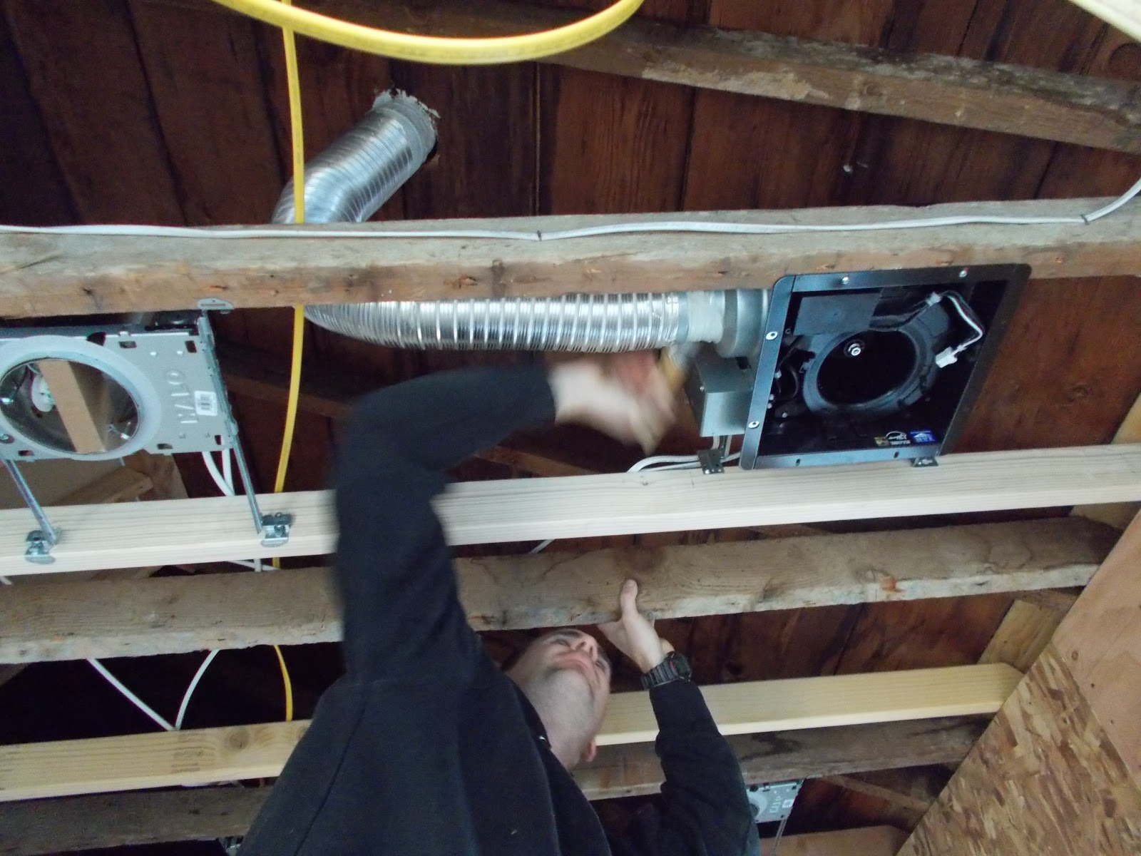 Venting A Bathroom Fan Through The Roof