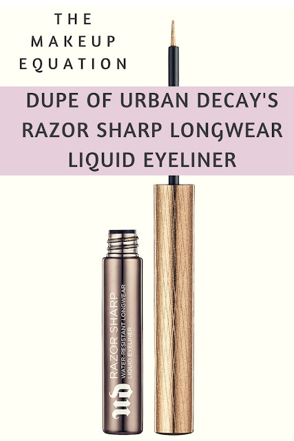 Dupe of Urban Decay Razor Sharp Water Resistant Longwear Liquid Eyeliner
