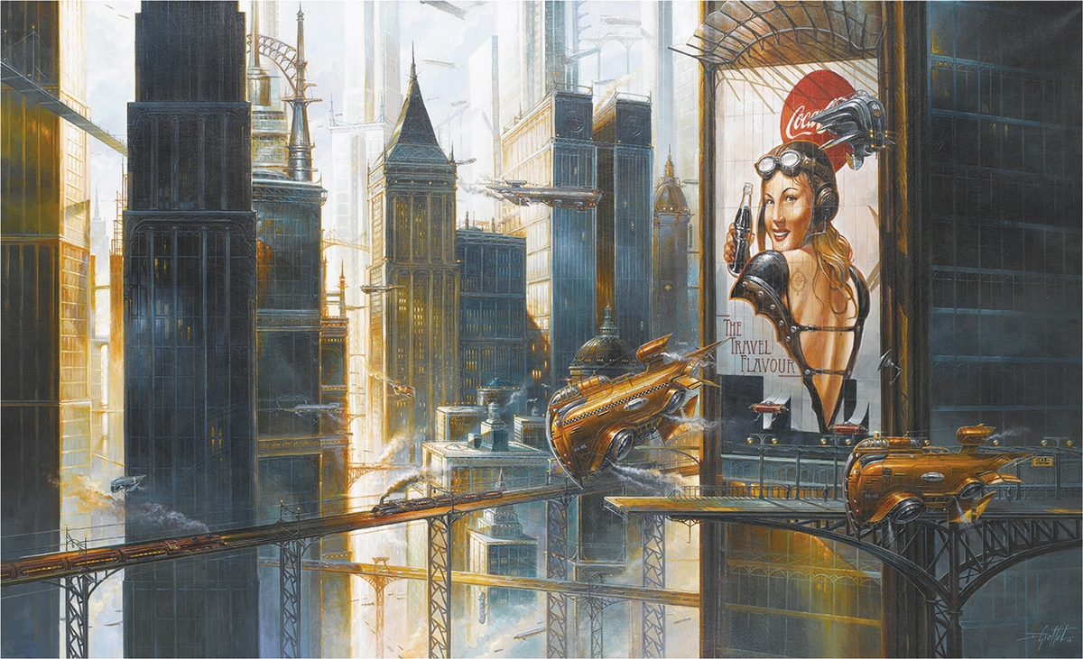 08-New-York-Taxi-Station-Didier-Graffet-Visions-of-the-future-in-Steampunk-Digital-and-Traditional-Art-www-designstack-co