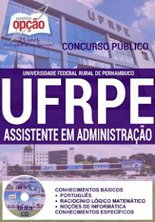 Apostila UFRPE 2016 cargos Assistente em Administração