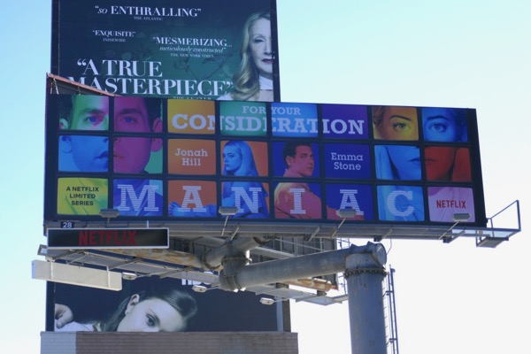 Maniac limited series consideration billboard