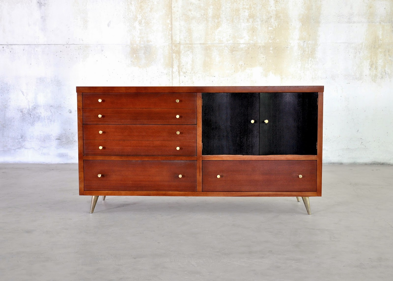 select modern drexel credenza bar buffet sideboard or. Black Bedroom Furniture Sets. Home Design Ideas
