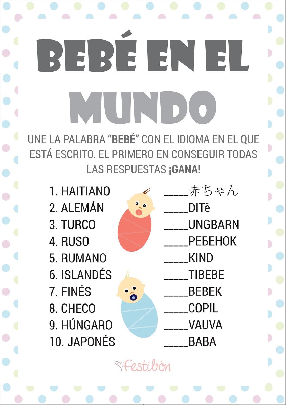 Descarga 16 Juegos Para Baby Shower Para Imprimir Gratis En Espanol