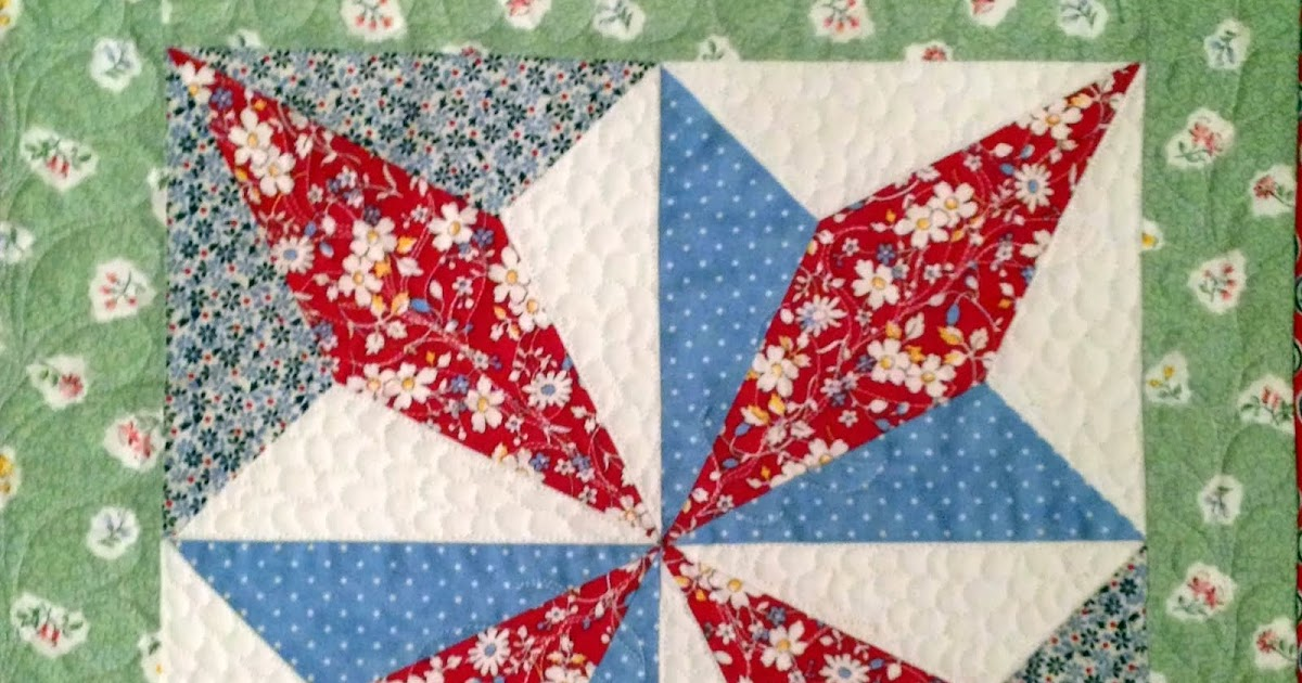 Starwood Quilter Turkey Tracks Quilt Block And A