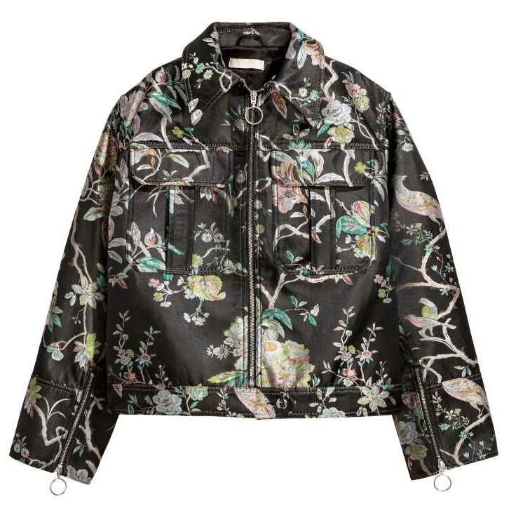 H&M szeroka kurtka z kwiatowym wzorem