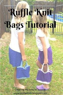 Ruffle Knit Bags
