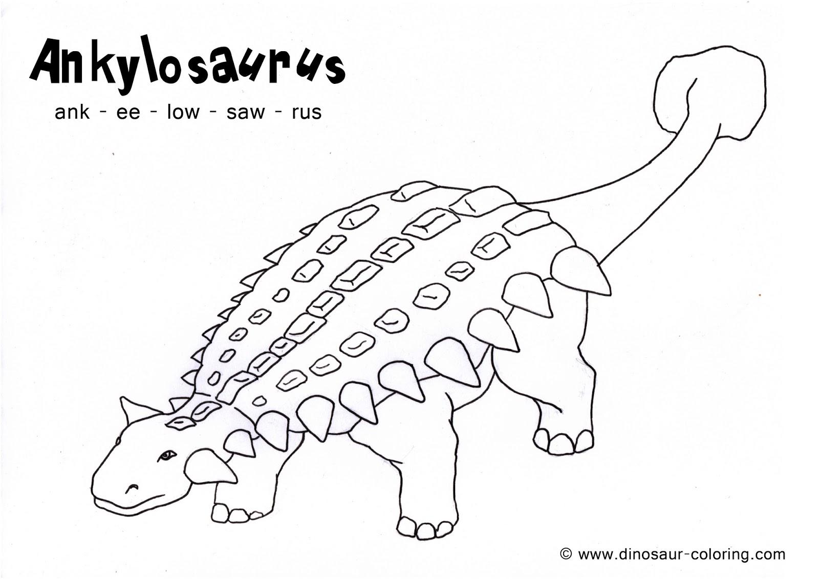 Coloring Dinosaurs For Kids Raja Master Soal