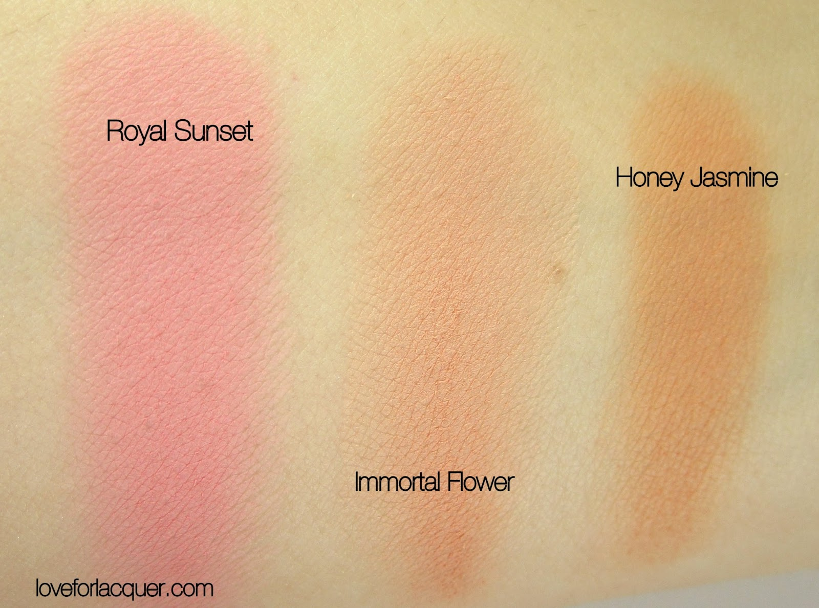 mac all about orange collection blush swatches