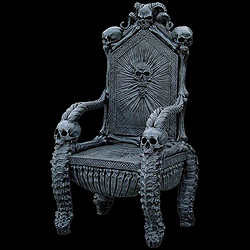 Skull Chair Rolling Parts Names Midnight In The Garden Of Evil Chairs Skeleton