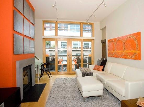 Paredes de sala en color naranja colores en casa - Como se consigue el color naranja ...