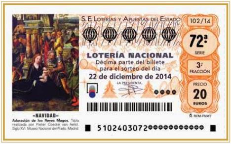 Sorteo de Navidad 2014 décimo lotería
