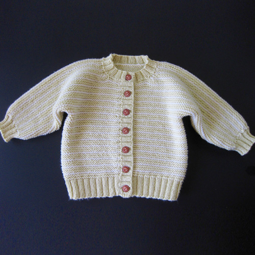 Buttermilk Striped Cardigan for Baby - Free Pattern