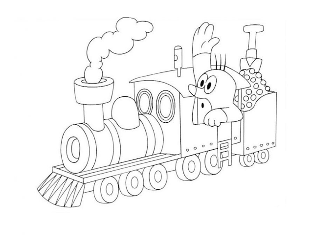 Mewarnai Gambar Kereta Api - 6