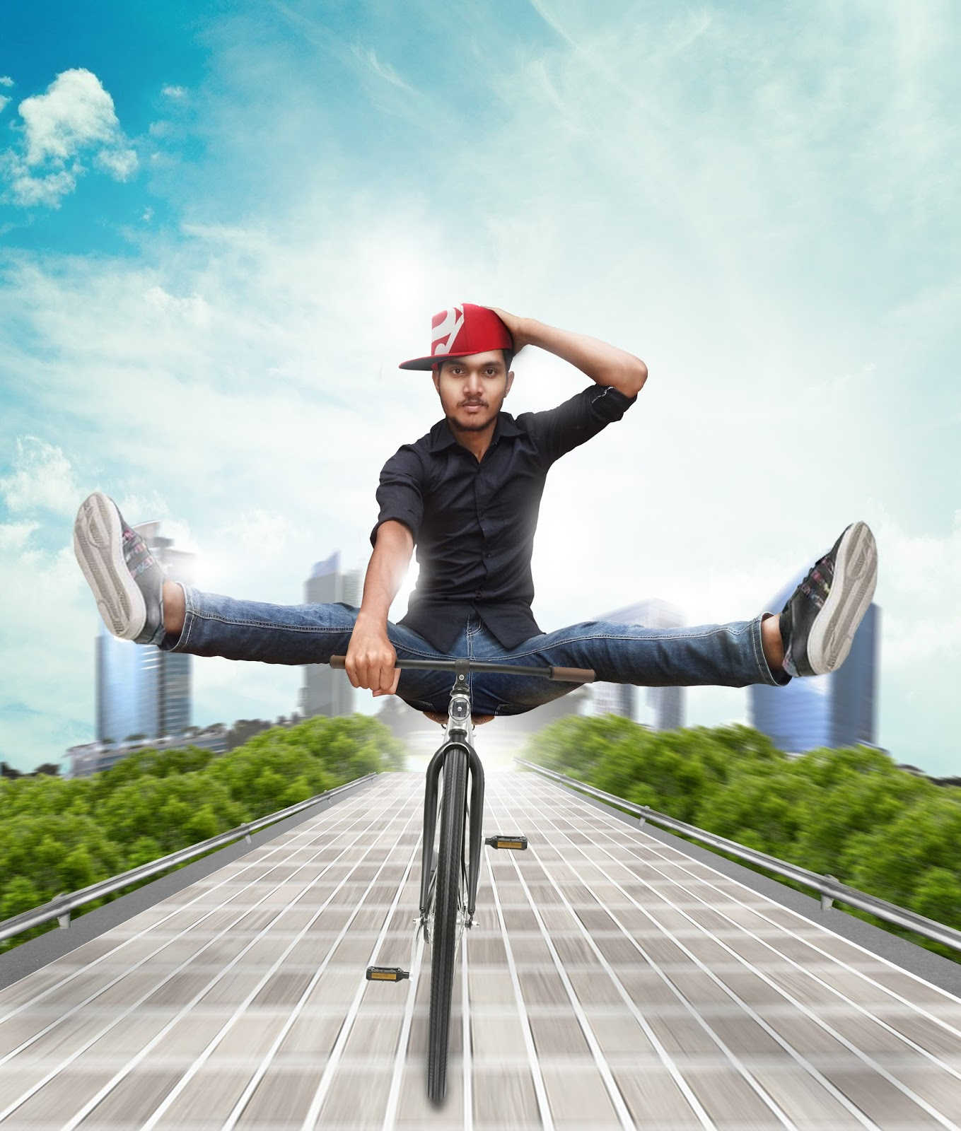 fun bicycle ride photo manipulation tutorials - creative photoshop