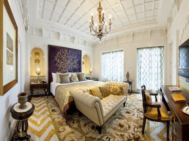 Dormitorio color oro plata