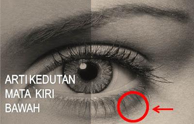 Arti Kedutan Kelopak Mata Kiri Bawah menurut Primbon