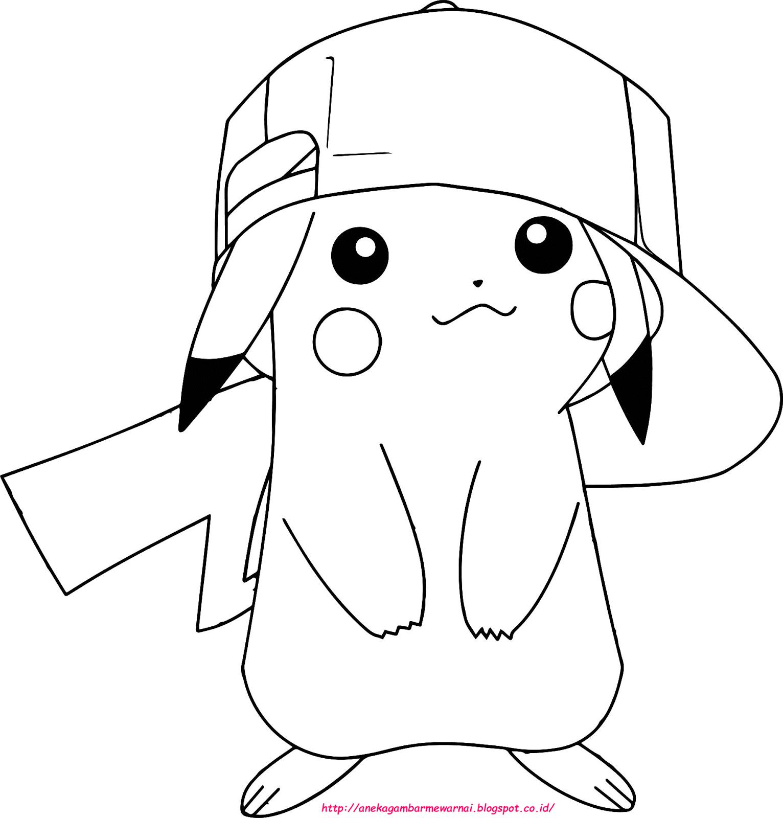 Bel jar 5 Gambar Mewarnai Pokemon Untuk Anak PAUD dan TK