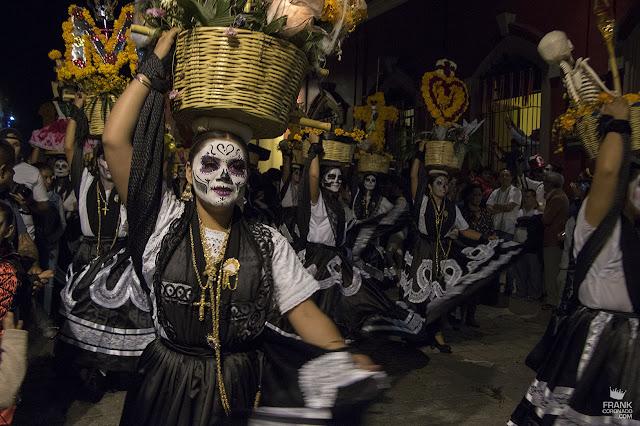 Chinas Oaxaqueñas de catrinas en Día de Muertos