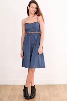 Rochie Stradivarius Dama Blue Denim ( )