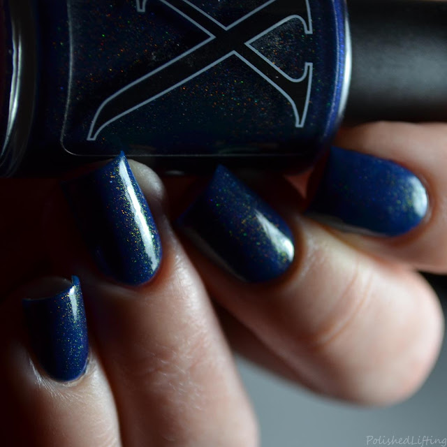 navy unicorn pee nail polish