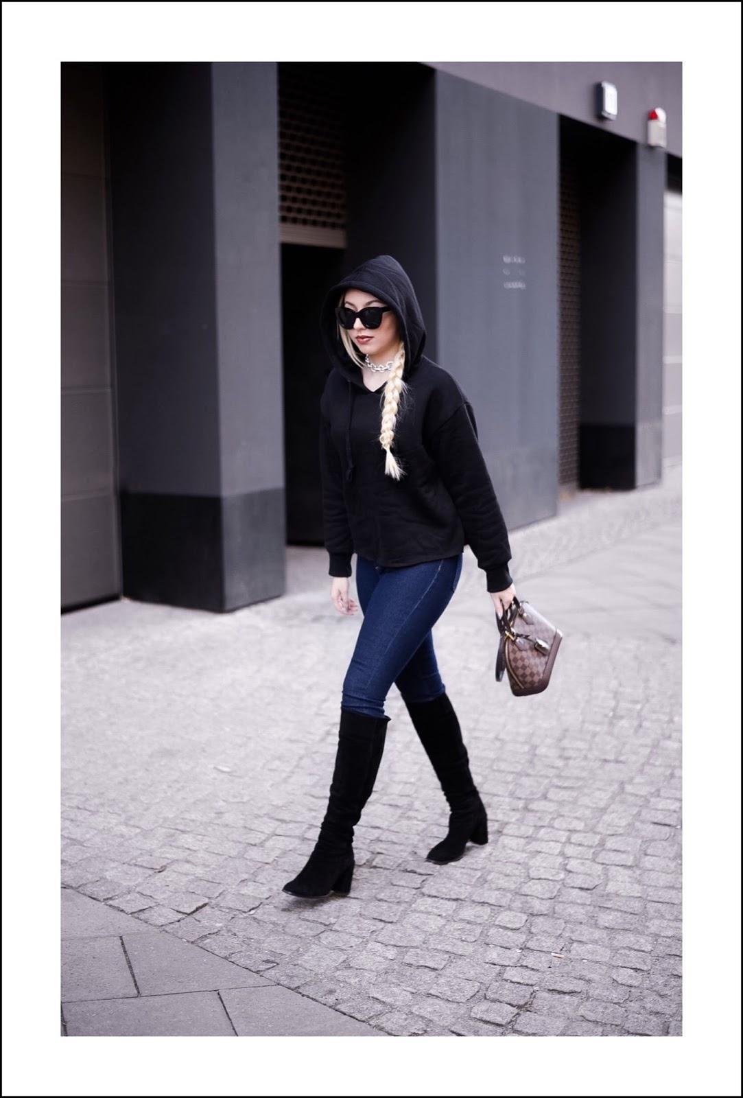 streetstyle, hoodie trend, black hoodie shein