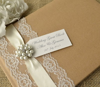 Rustic Style Kraft Wedding Guest Book